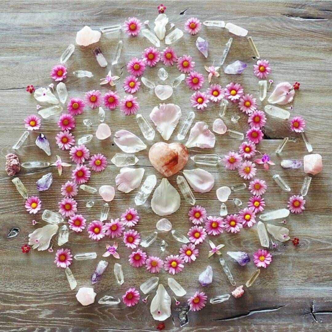 Crystal Flowers Life Grid